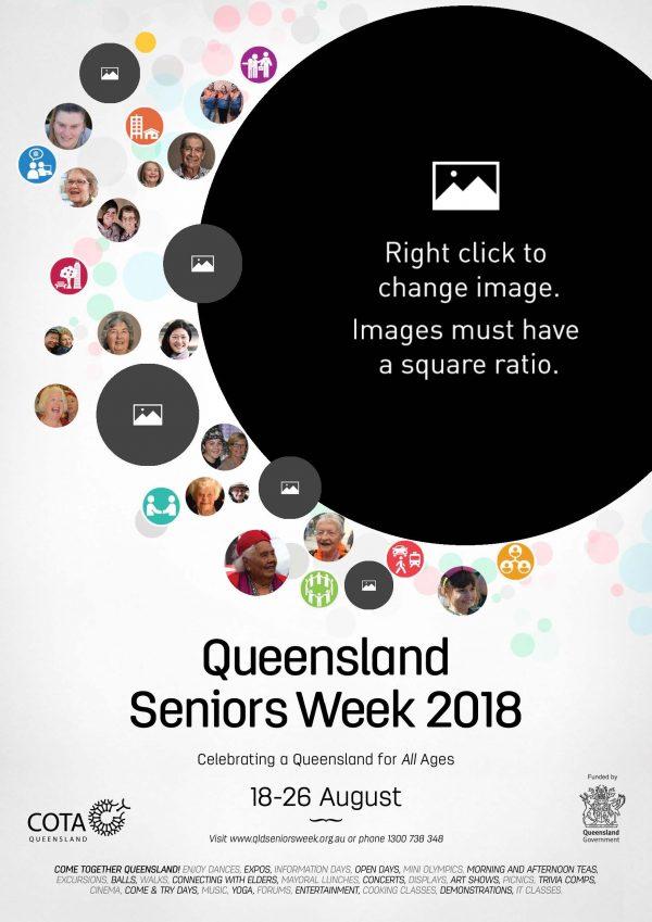 seniors week 2018 editable poster template queensland seniors week